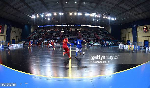 General view of Palaflorio in Bari during the FIFA Futsal World Cup Qualifying match between Italy and Macedonia on December 10 2015 in Bari Italy