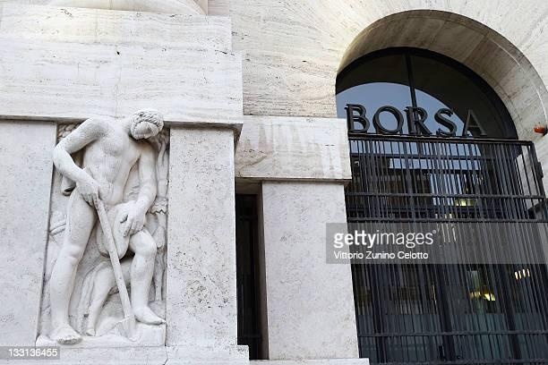 A general view of Palazzo Mezzanotte head office of the Borsa Italiana on November 17 2011 in Milan Italy Italy's new Prime Minister Mario Monti...
