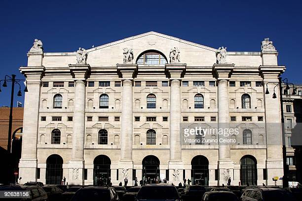 A general view of Palazzo Mezzanotte home to Milan stock exchange bureau on November 3 2009 in Milan Italy