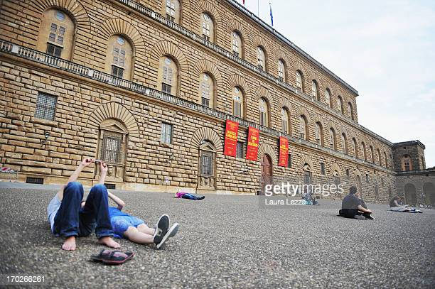 A general view of Palazzo Pitti on June 8 2013 in Florence Italy The latest book by the American writer Dan Brown is set largely in Florence historic...