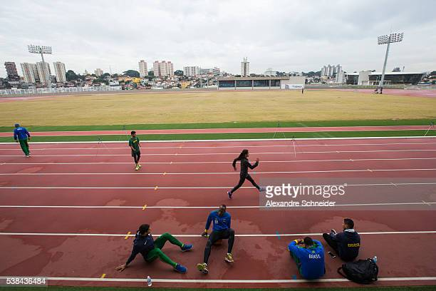 General view of Paralympic Brazilian team during the training session during the inauguration of Brazilian Paralympic Training Center on June 6 2016...