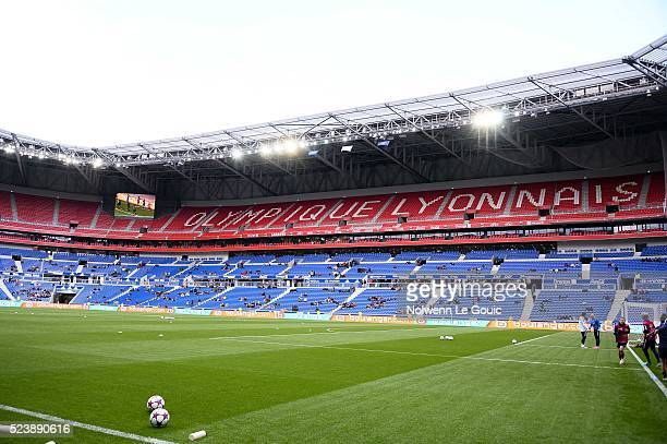 general view of Parc OL during the UEFA women's Champions League semifinal match between Olympique Lyonnais and Paris SaintGermain at Stade des...