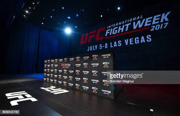 A general view of Park Theater before UFC 213 TUF Finale Open Workouts on July 5 2017 in Las Vegas Nevada