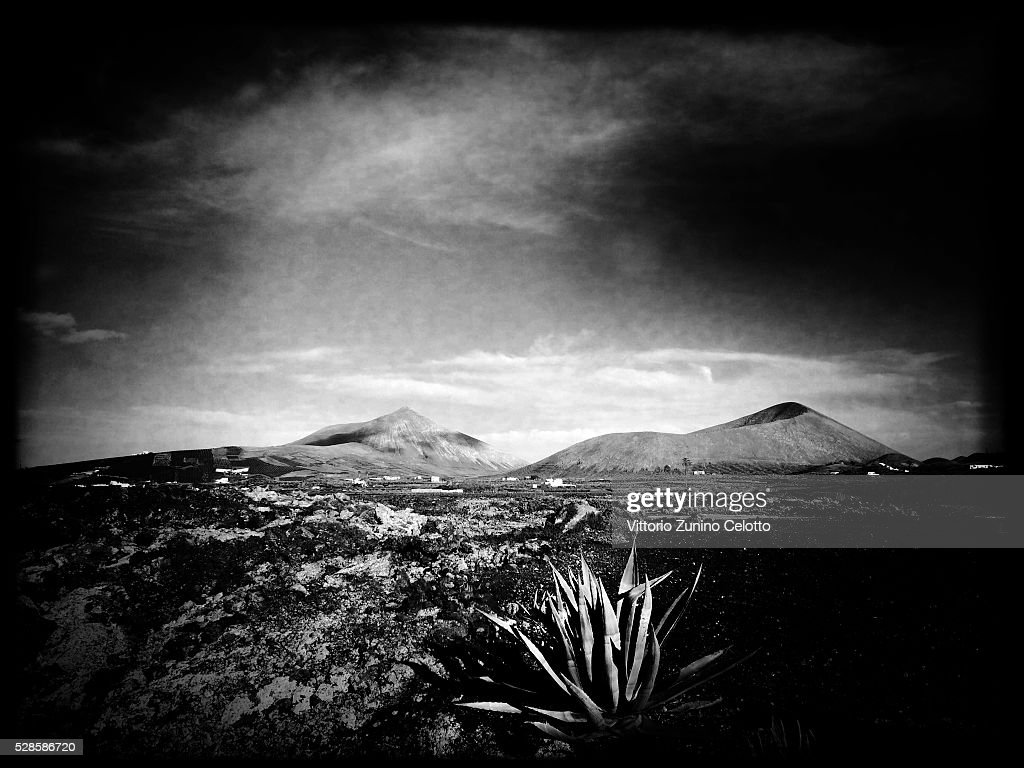 A general view of Parque Natural de los Ajaches on April 25, 2016 in Lanzarote, Spain.