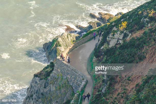 A general view of part of BrayGreystones cliff walk On Sunday March 26 in Bray Ireland