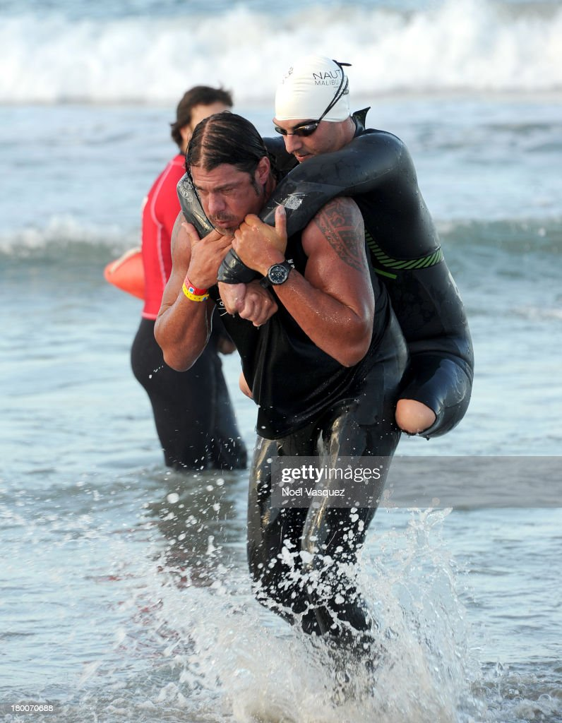 A general view of participants during the Nautica Malibu Triathlon presented by Equinox on September 8, 2013 in Malibu, California.