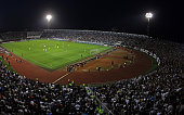 A general view of Partizan Stadium during the UEFA Europa League match between FK Partizan and Tottenham Hotspur FC on September 18 2014 in...