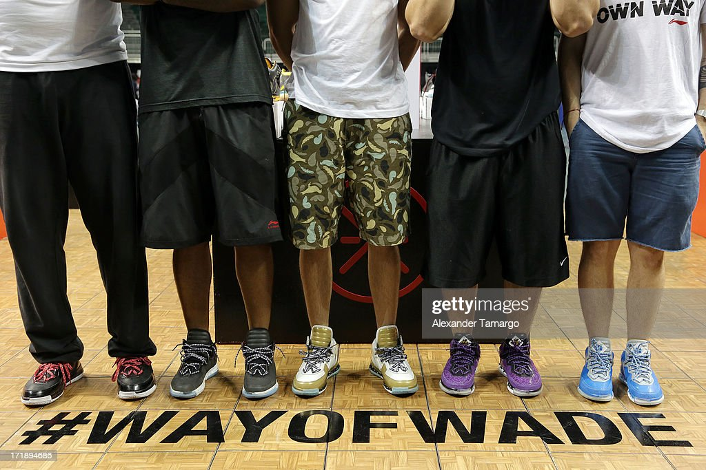 General view of patrons in Li-Ning USA basketball sneakers at SneakerCon at Bank United Center on June 29, 2013 in Miami, Florida.
