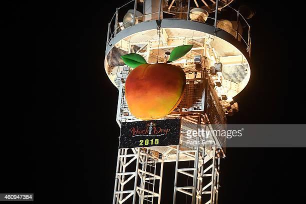 A general view of Peach Drop 2015 at Underground Atlanta on December 31 2014 in Atlanta Georgia