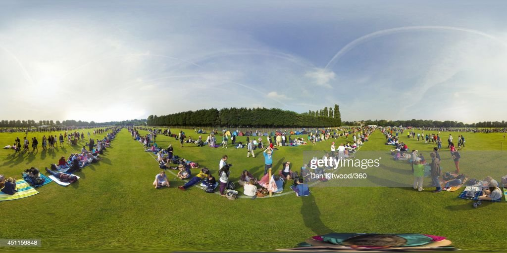 A general view of people queuing on day 2 of the Championships - Wimbledon 2014 on June 24, 2014 in London, England.