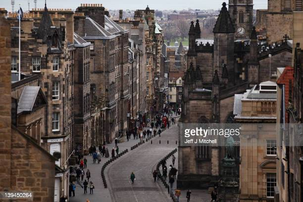 A general view of people walking along the Royal Mile on February 21 2012 in Edinburgh Scotland A favourite with visitors and one of the busiest...