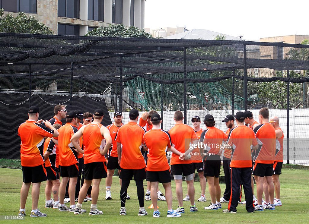 A general view of Perth Scorchers at a training session during the Champions League Twenty20 at Sahara Park Kingsmead on October 15, 2012 in Durban, South Africa.