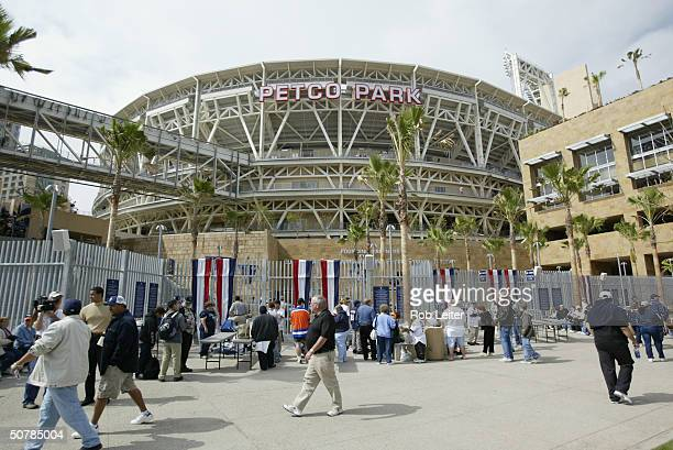 General view of PETCO Park before the home opener between the San Diego Padres and the San Francisco Giants on April 8 2004 in San Diego California...