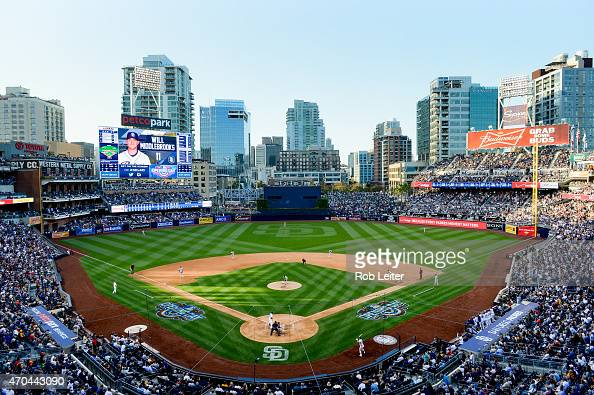A general view of Petco Park during the game between the San Francisco Giants and the San Diego Padres at Petco Park on Thursday April 9 2015 in San...