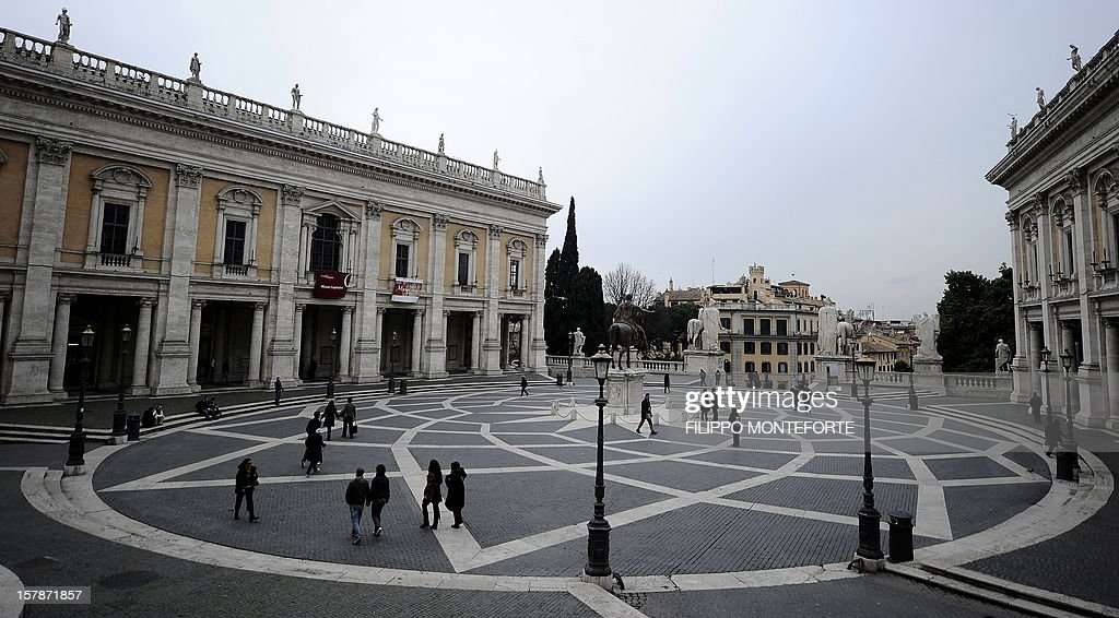 A General View Of Piazza Del Campidoglio Designed During The 16th Century  By Michelangelo Buonarroti In