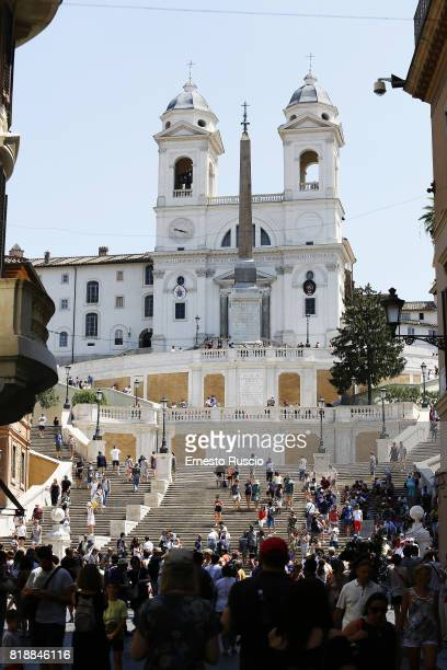 General view of Piazza Di Spagna on July 19 2017 in Rome Italy