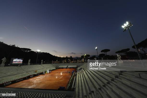 General view of Pietrangeli at dusk on Day Four of The Internazionali BNL d'Italia 2017 at the Foro Italico on May 17 2017 in Rome Italy