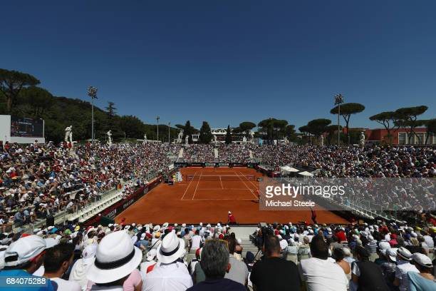 General view of Pietrangeli court during the women's second round match between Laura Siegemund of Germany and Simona Halep of Romania on Day Four of...