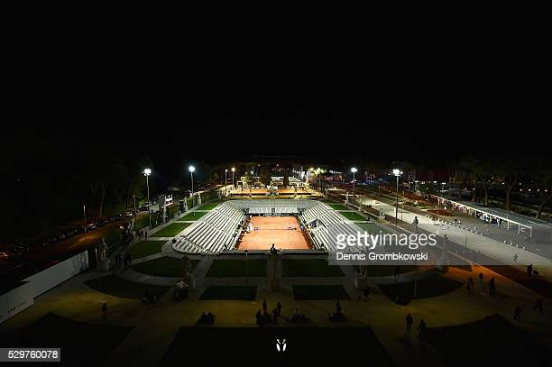 A general view of Pietrangeli during night time on Day Two of The Internazionali BNL d'Italia 2016 on May 09 2016 in Rome Italy