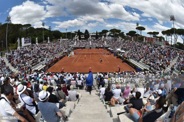 General view of Pietrangeli during the WTA Doubles Final match between YungJan Chan of Taiwan and Martina Hingis of Switzerlandand and Ekaterina...