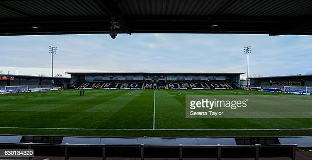 A general view of Pirelli Stadium home to Burton Albion Football Club prior to kick off of the Sky Bet Championship match between Burton Albion and...