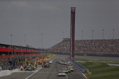 General view of pit road during the NASCAR Sprint Cup Series Auto Club 400 at Auto Club Speedway on March 23 2014 in Fontana California