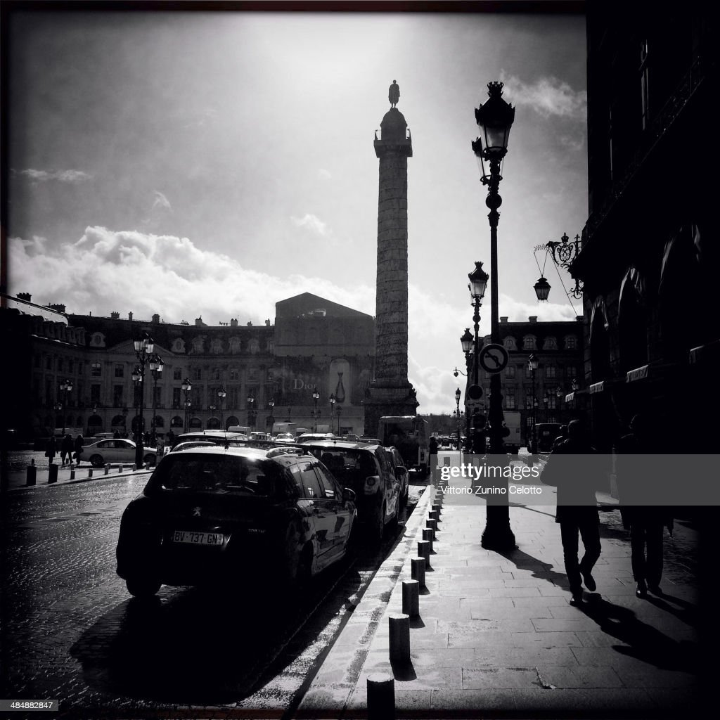 A general view of Place Vendome on March 1 2014 in Paris France