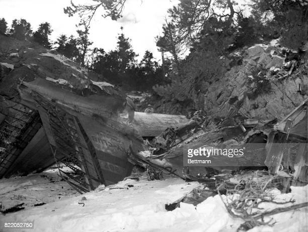 General view of plane crash on DoubleUp Mountain near Las Vegas