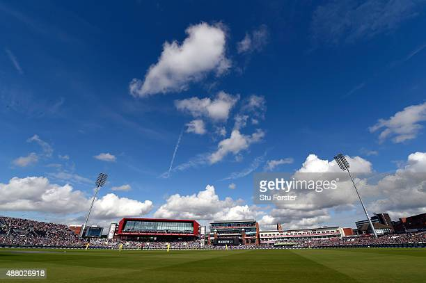 A general view of play at Old Trafford during the 5th Royal London OneDay International match between England and Australia at Old Trafford on...