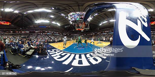 A general view of play between the Philadelphia 76ers and the Dallas Mavericks at American Airlines Center on February 21 2016 in Dallas Texas NOTE...