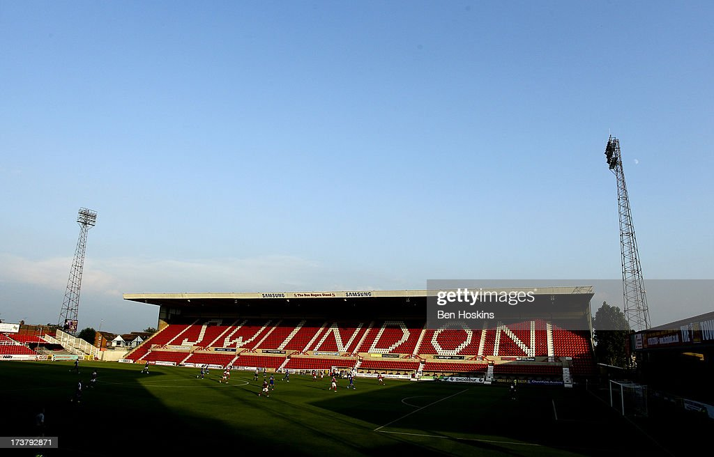 A general view of play during a pre season friendly match between Swindon Town and Birmingham City at The County Ground on July 17 2013 in Swindon...