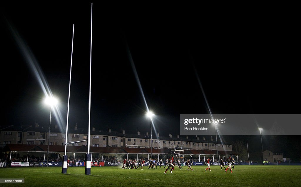 A general view of play during a tour match between Canada and Maori All Blacks at Oxford University Rugby Club on November 23, 2012 in Oxford, England.