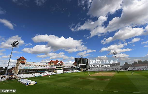 A general view of play during Day 3 of the LV County Championship match between Nottinghamshire and Middlesexat Trent Bridge on September 8 2016 in...