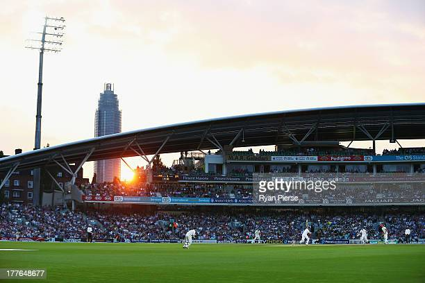 A general view of play during day five of the 5th Investec Ashes Test match between England and Australia at the Kia Oval on August 25 2013 in London...