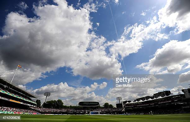 A general view of play during day one of the 1st Investec Test match between England and New Zealand at Lord's Cricket Ground on May 21 2015 in...