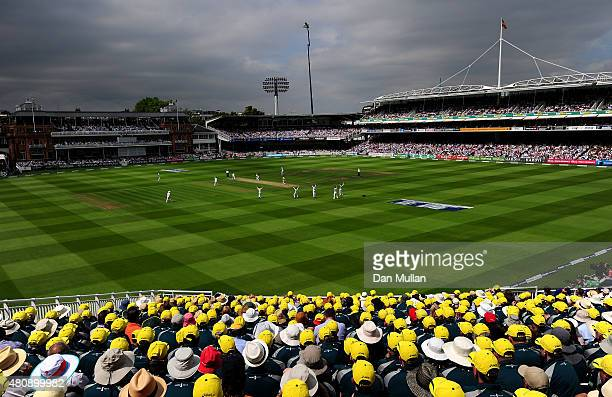 A general view of play during day one of the 2nd Investec Ashes Test match between England and Australia at Lord's Cricket Ground on July 16 2015 in...