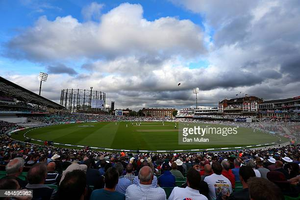 A general view of play during day one of the 5th Investec Ashes Test match between England and Australia at The Kia Oval on August 20 2015 in London...