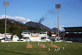 A general view of play during day one of the First Test match between Australia and the West Indies at Windsor Park on June 3 2015 in Roseau Dominica