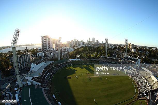 A general view of play during day one of the First Test match between Australia and South Africa at the WACA on November 3 2016 in Perth Australia