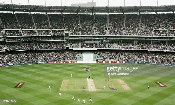 A general view of play during day one of the fourth Ashes Test Match between Australia and England at the Melbourne Cricket Ground on December 26...