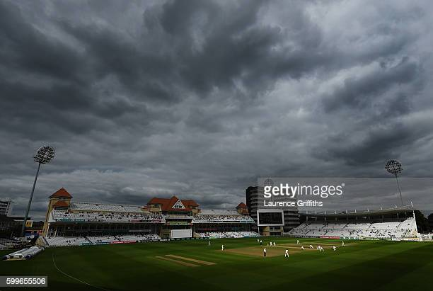 A general view of play during Day One of the LV County Championship match between Nottinghmashire and Middlesex at Trent Bridge on September 6 2016...