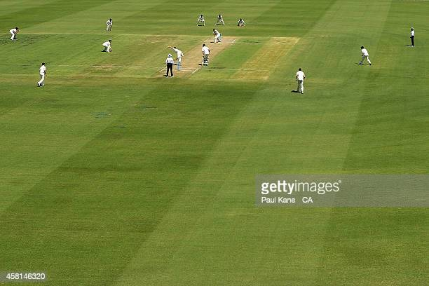 A general view of play during day one of the Sheffield Shield match between Western Australia and Tasmania at WACA on October 31 2014 in Perth...