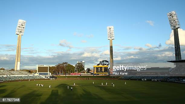 A general view of play during day one of the Sheffield Shield match between Western Australia and South Australia at WACA on October 25 2016 in Perth...