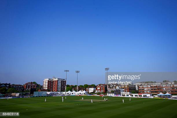 A general view of play during day one of the Specsavers County Championship Division Two match between Sussex and Derbyshire at The 1st Central...