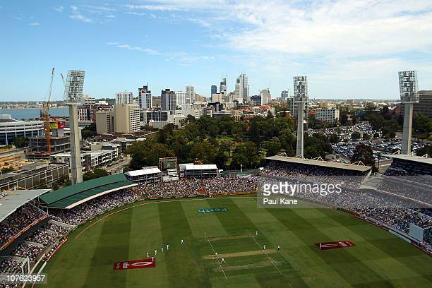 A general view of play during day one of the Third Ashes Test match between Australia and England at the WACA on December 16 2010 in Perth Australia