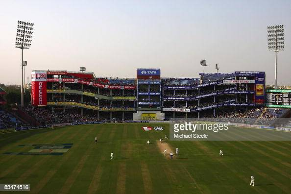 General view of play during day one of the Third Test match between India and Australia at the Feroz Shah Kotla Stadium on October 292008 in New...