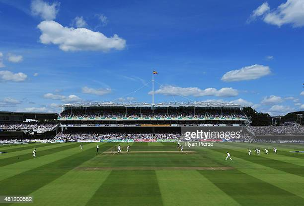 A general view of play during day three of the 2nd Investec Ashes Test match between England and Australia at Lord's Cricket Ground on July 18 2015...