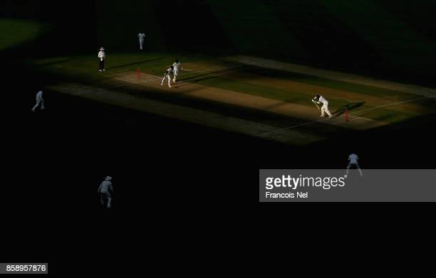 A general view of play during Day Three of the Second Test between Pakistan and Sri Lanka at Dubai International Cricket Ground on October 8 2017 in...