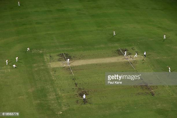 A general view of play during day three of the Sheffield Shield match between Western Australia and South Australia at the WACA on October 27 2016 in...