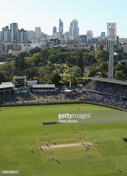 A general view of play during day three of the Third Ashes Test Match between Australia and England at WACA on December 15 2013 in Perth Australia